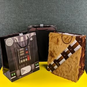 Set of 3 Star Wars Collectible Gift Bags 2016, New